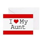 I Heart My Aunt Greeting Cards (Pk of 20)