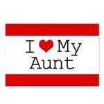 I Heart My Aunt Postcards (Package of 8)