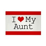 I Heart My Aunt Rectangle Magnet (10 pack)