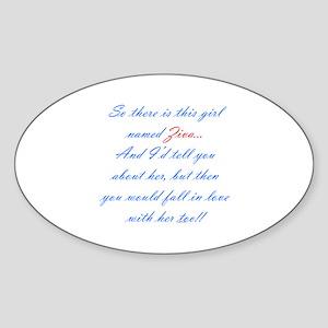 Girl Named Ziva Oval Sticker