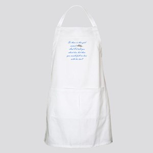 Girl Named Abby BBQ Apron