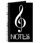 Treble Clef Music Notes Journal Book
