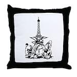 Classic Eiffel Logo Throw Pillow