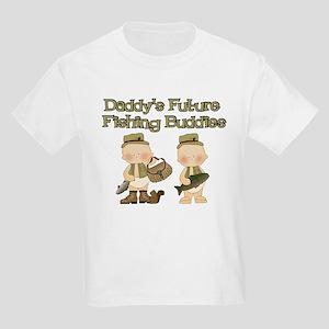 Daddy's Future Fishing Buddies Kids Light T-Shirt