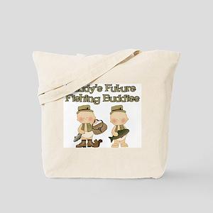 Daddy's Future Fishing Buddies Tote Bag