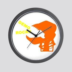 Demolition Construction Worker Wall Clock