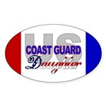 US Coast Guard Daughter Oval Sticker