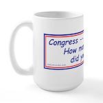 Congress Spends Billions Large Mug