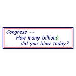 Congress Spends Billions Bumper Sticker (10 pk)