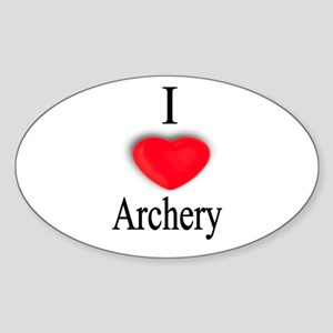 Archery Oval Sticker