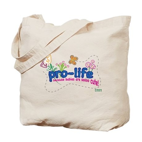 Pro-Life Flowers & Butterfly Tote Bag