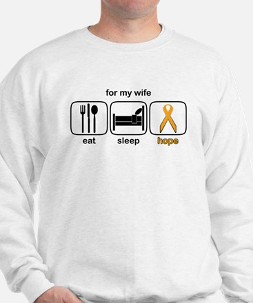 Wife ESHope Leukemia Sweatshirt
