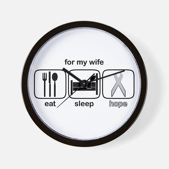 Wife ESHope Lung Cancer Wall Clock