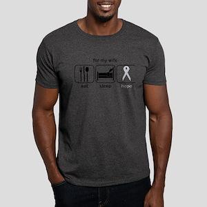 Wife ESHope Lung Cancer Dark T-Shirt