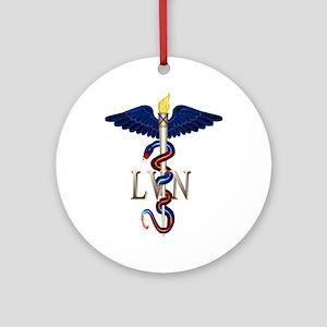 LVN Caduceus Ornament (Round)
