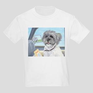Driving Riley - Shih Tzu Kids Light T-Shirt