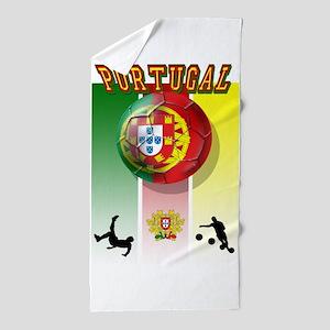 Portugal Football Soccer Beach Towel