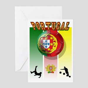 Portugal Football Soccer Greeting Cards