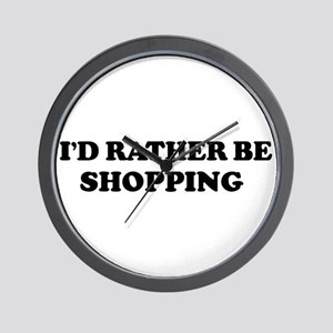 Rather be Shopping Wall Clock