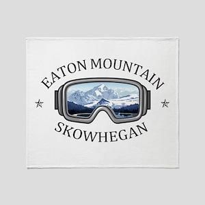 Eaton Mountain - Skowhegan - Maine Throw Blanket