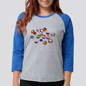 European Football Womens Baseball Tee