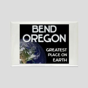 bend oregon - greatest place on earth Rectangle Ma