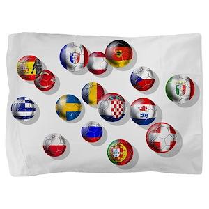 European Football Pillow Sham
