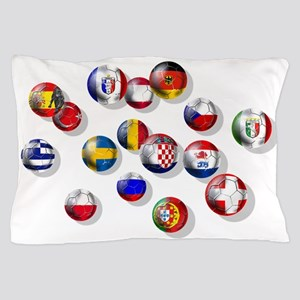 European Football Pillow Case