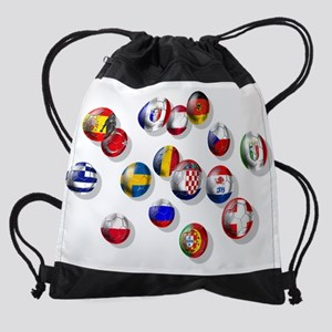 European Football Drawstring Bag