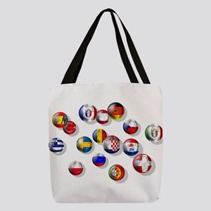 European Football Polyester Tote Bag