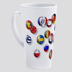 European Football 17 Oz Latte Mug