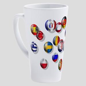 European Football 17 Oz Latte Mug