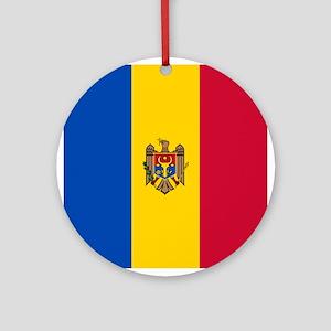 Flag of Moldova Round Ornament