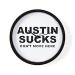 Austin Sucks Wall Clock