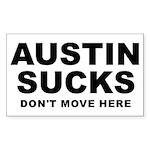 Austin Sucks Rectangle Sticker