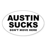 Austin Sucks Oval Sticker (10 pk)