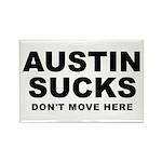 Austin Sucks Rectangle Magnet