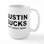 Austin Sucks Large Mug
