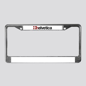 Helvetica License Plate Frame