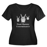Dust Bun Women's Plus Size Scoop Neck Dark T-Shirt