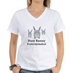 Dust Bunny Exterminator Women's V-Neck T-Shirt