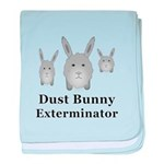 Dust Bunny Exterminator baby blanket