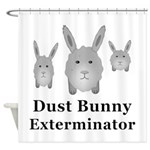 Dust Bunny Exterminator Shower Curtain
