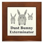 Dust Bunny Exterminator Framed Tile