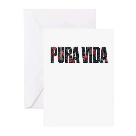 Pura Vida Simple Life CostaRica Vac Greeting Cards by