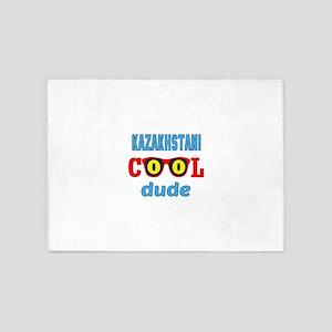 Kazakhstani Cool Dude 5'x7'Area Rug