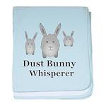 Dust Bunny Whisperer baby blanket