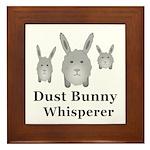 Dust Bunny Whisperer Framed Tile