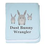 Dust Bunny Wrangler baby blanket