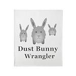Dust Bunny Wrangler Throw Blanket